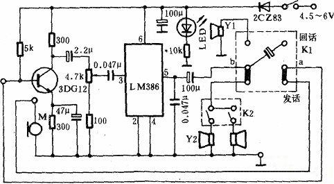传呼器的电路原理图
