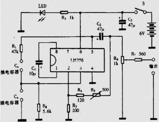 LM386低电压音频功率放大器电路图