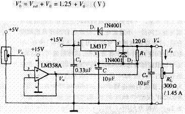 大电流线性分压器电路